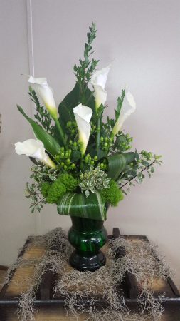 Peaceful Thoughts Arrangement in Winston Salem, NC | RAE'S NORTH POINT FLORIST INC.