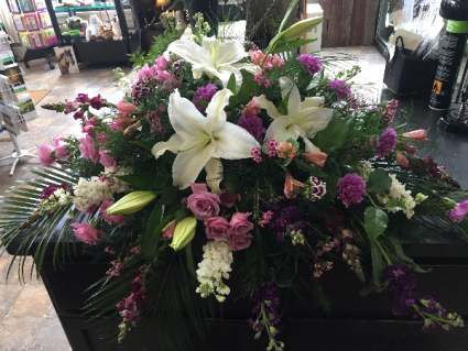 Peaceful Tribute Casket Arrangement