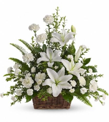 Peaceful White Basket SY170