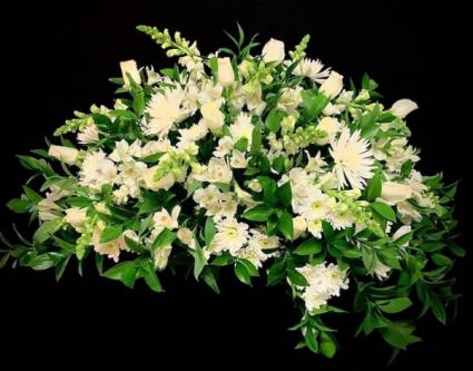 Peaceful White Roses & White Mix