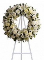 Peaceful White Wreath Sympathy