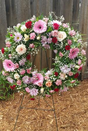 Peaceful Wreath Sympathy Flowers Wreath