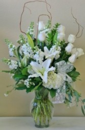 PEACEFULLY SERENE Arrangement of Flowers