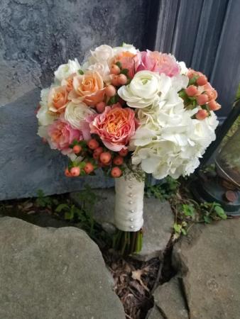 Peach Berry Bouquet Bridal Bouquet
