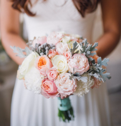 Peach Bridal Bouquet  Wedding
