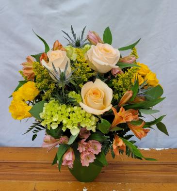 Peach Dream Vase Arrangement