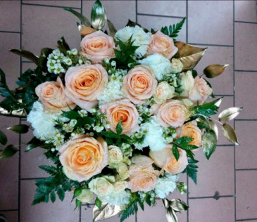 Peach Garden Bridal Bouquet Bridal Bouquet