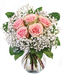 Peach Kiss Roses Floral Arrangement