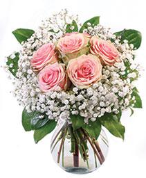 Peach Kiss Roses Floral Arrangement