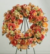 PEACH MEMORIAL STENDING WREATH