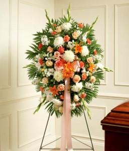 Peach, Orange, and White Flower Spray