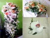 Peach - Orchid wedding Set