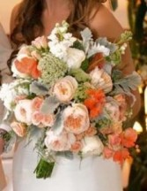 Peach Perfection Bouquet with water source