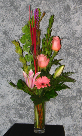 Peach Pleasure Vase Arrangement