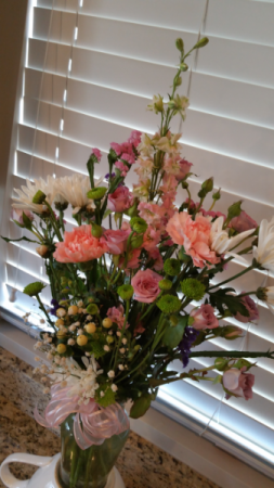 Peach Remembrance Sympathy Flowers