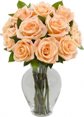 Peach Rose Arrangement CUSTOM