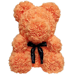 Peach Rose Bear