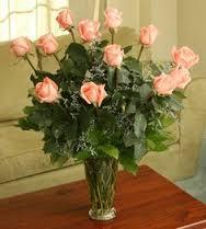 Peach Roses One dozen, two dozen, three dozen pink roses