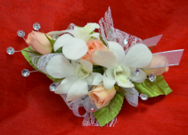 Peach Roses and Orchids-5C