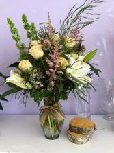 Peach roses Florist designer
