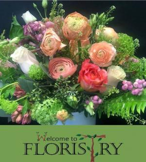 Peach Sorbet Floral Arrangment in Haverhill, MA | Welcome To Floristry