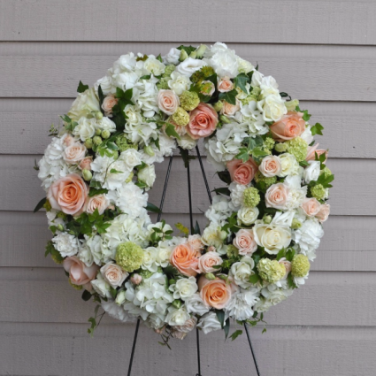 Peach Sympathy  Wreath