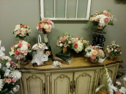 Peach wedding Wedding Flowers