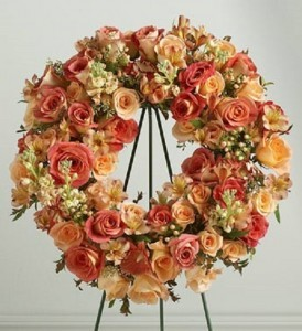 Peach Wreath