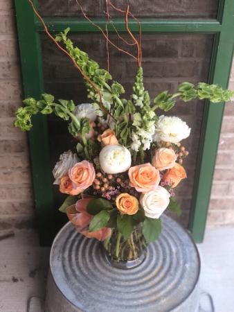 Peaches and Cream Dozen roses