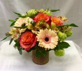 Peaches and Cream Fresh Floral Design
