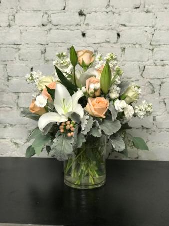 peaches and cream vase