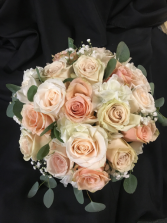 Peaches and Cream Wedding Bouquet