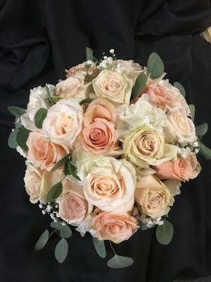 Peaches and Cream Wedding Bouquet in Red Lake, ON | FOREVER GREEN GIFT BOUTIQUE