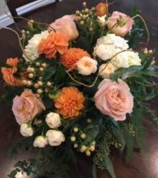 Peaches and Creams Bridal Bouquet