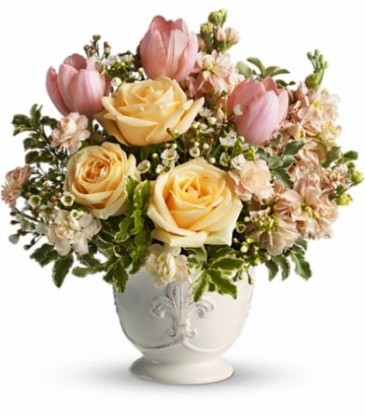 Peaches and Dreams Spring Arrangement