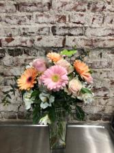 Peaches, Pinks  & Cream Vase