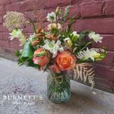 Peaches & Cream Vase Arrangement
