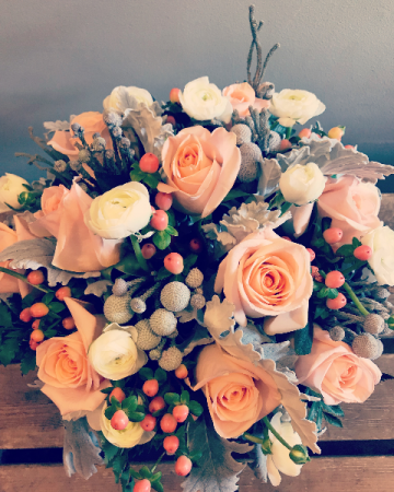 Peaches 'N Cream Bridal Bouquet