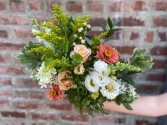 Peaches, Pinks, Whites, & Green Floral Wrap