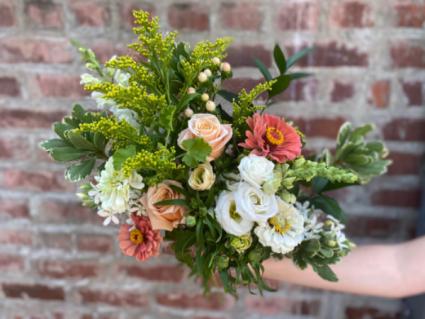 Peaches, Pinks, Whites, & Green Floral Wrap
