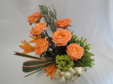 PEACHES- Prince George BC Flowers &  Florists Rose Arrangement