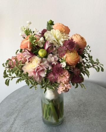 Peachy Bridal Bouquet
