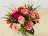 Peachy Pink Bouquet All Around Vase