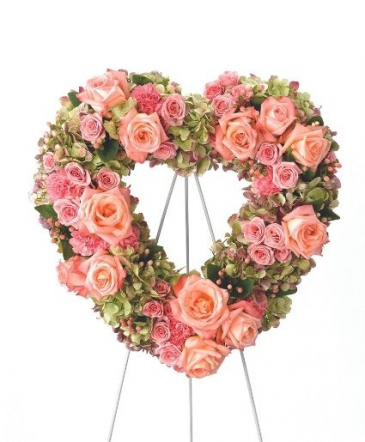 Peachy Pink Heart Funeral