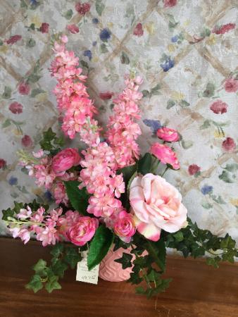 Peachy Pink Silk Artificial Arrangement