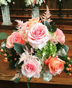 Peachy Pinks Bouquet in Ozone Park, NY | Heavenly Florist