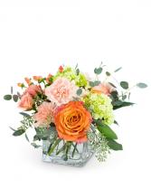 Peachy Sweet Flower Arrangement