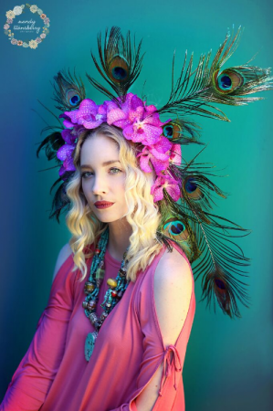 Peacock Crown  Flower Crown