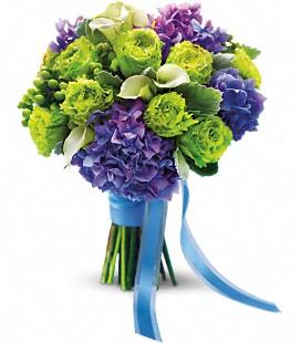 Peacock handtied bouquet