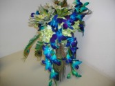 Peacock Surprise Bridal Bouquet